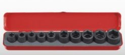 "1/2"" Dr. 10PC Impact Socket Set - 6PT"