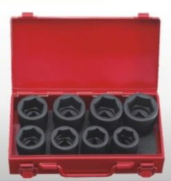 "3/4"" Dr.  8pc Impact Socket Set - 6 PT"