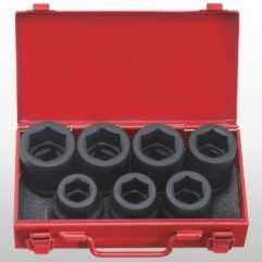 "1"" Dr. 7pc Impact Socket Set - 6 PT"