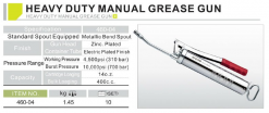 HEAVY DUTY MANUAL GREASE GUN