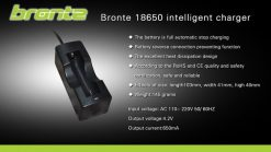 Bronte 18650 Hleðslutæki