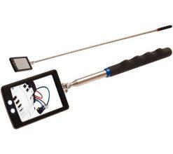 Útdraganlegur spegill með LED ljósi