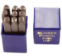 Höggstafir, tölustafir, 8mm
