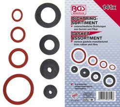 141 piece Gasket Assortment: Rubber, Fibre and Klingerith