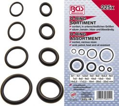 225-piece O-Ring Assortment, 3-22 mm Ø