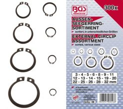 300-piece External Circlip Assortment  3-32 mm