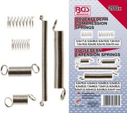 Compression and Extension Spring Assortment 200-piece
