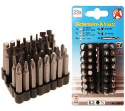 33-piece Security Bit Set 50 mm