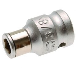 "3/8"" Adaptor with Retaining Ball, f. 1/4"" Bits"