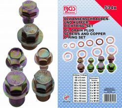 Oil Drain Plug Screws and Copper O-Ring Set 534-pieces