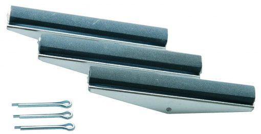 3 Slípihausar fyrir vörunr. 1155, 75 mm Hausar, Grófleiki 280