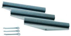 3 slípihausar fyrir vörunr. BGS-1157, 100 mm Hausar, Grófleiki 280