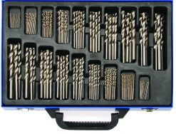 170-piece Twist Drill Set, HSS, Titanium Coated
