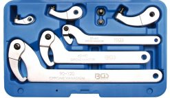 8-piece Hook Wrench Set, 35 - 120 mm
